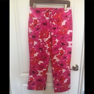 CACHE Tropical Hibiscus Capri Ankle Pants 2